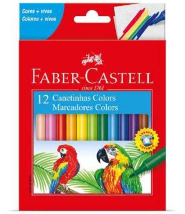 Canetinha Faber-Castell 12 Cores