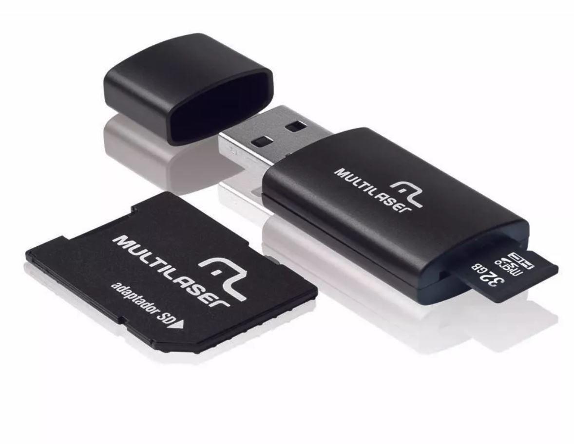 Cartão de Memória 3X1 32GB Classe 10 Multilaser - MC113