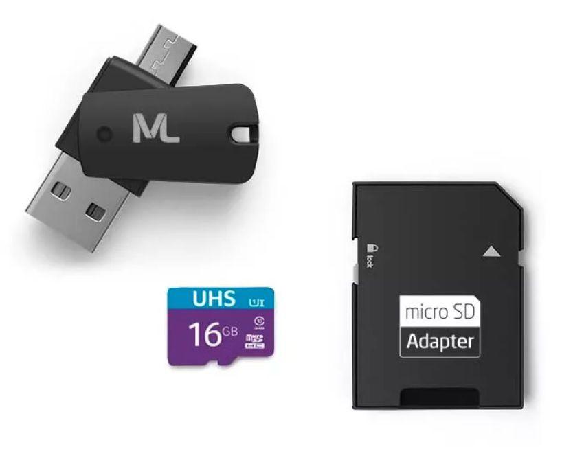Cartão de Memória Ultra High Speed-I 16GB Até 80 MB/s de velocidade Multilaser - MC150