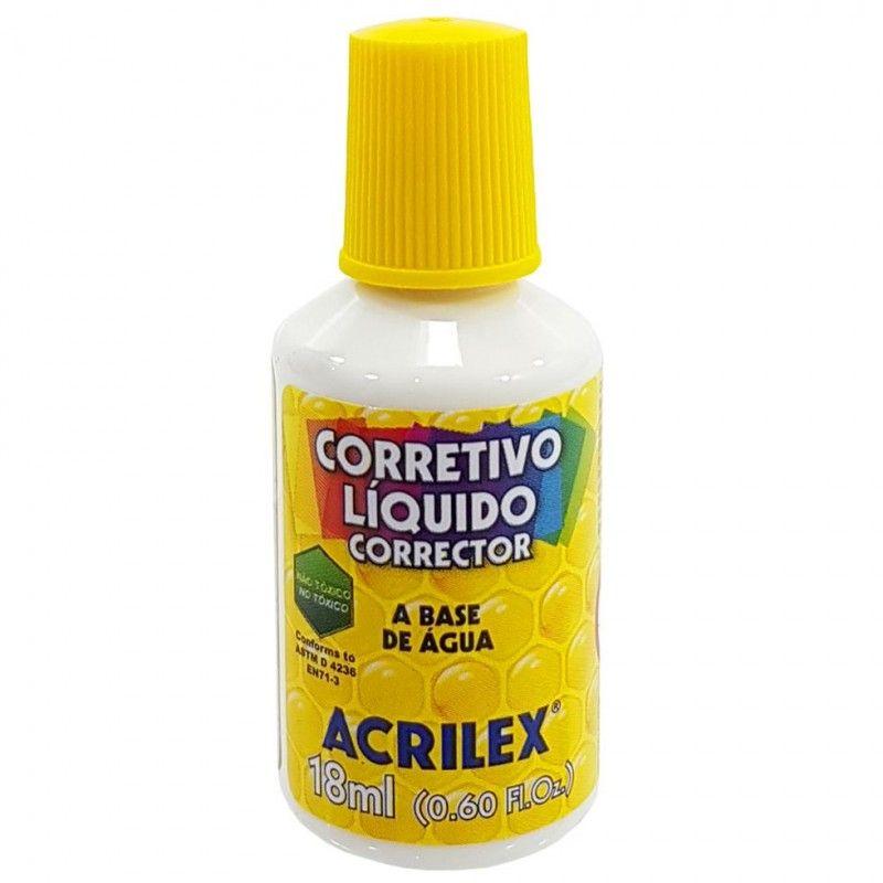 CORRETIVO LIQUIDO ACRILEX BASE AGUA 18ML