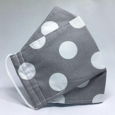 Mascara de Proteção - Modelo 3D - Grey Bolinhas Brancas