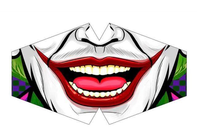 Mascara de Proteção - Modelo Anatômico - boca coringa