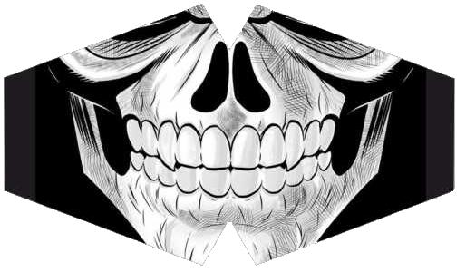 Máscara de Proteção - Modelo Anatômico - Boca Caveira