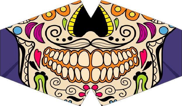 Máscara de Proteção - Modelo Anatômico - Boca Caveira Mexicana