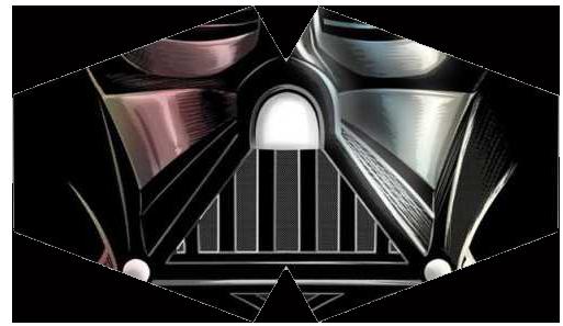 Máscara de Proteção - Modelo Anatômico - Boca Darth Vader