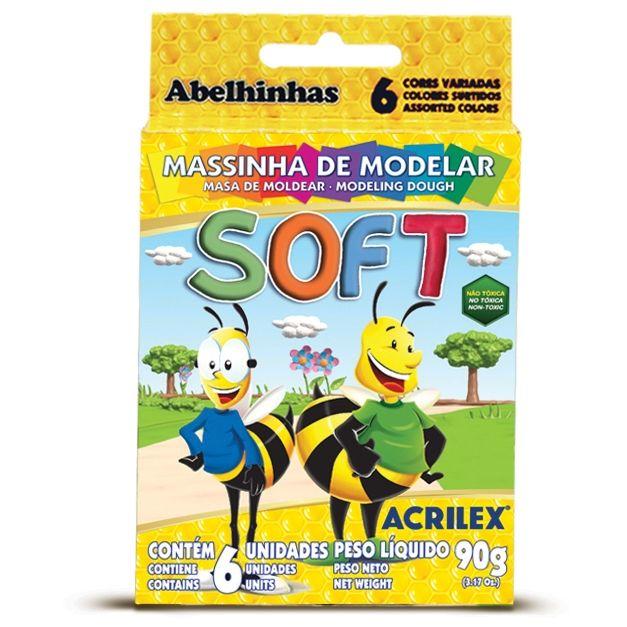 MASSINHA DE MODELAR SOFT 6 UNIDADES ACRILEX