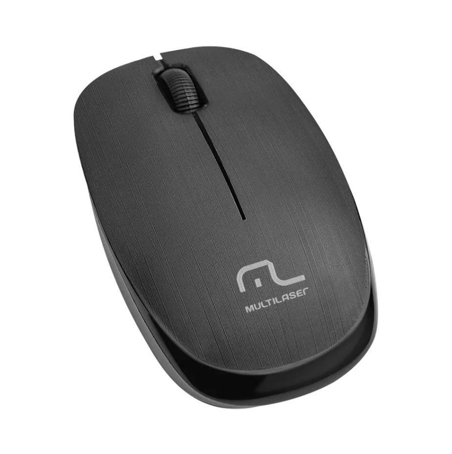 Mouse Sem Fio 2.4 Ghz 1200 Dpi Preto Usb Multilaser - MO251