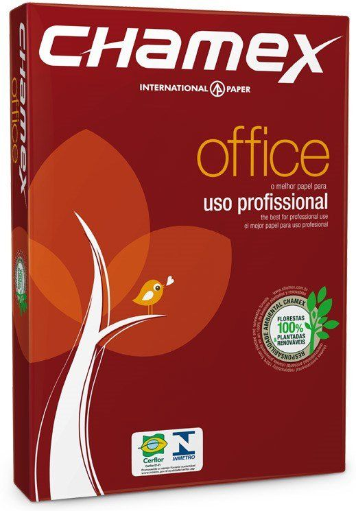 Papel Sulfite 75g Alcalino 210x297 A4 Chamex Office Ipaper PT 500 FL