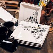 Aparelho de Jantar, Chá e Café Oxford Quartier Tattoo 42 Peças