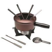 Aparelho para Fondue Brinox 10 Peças Cor Chocolate