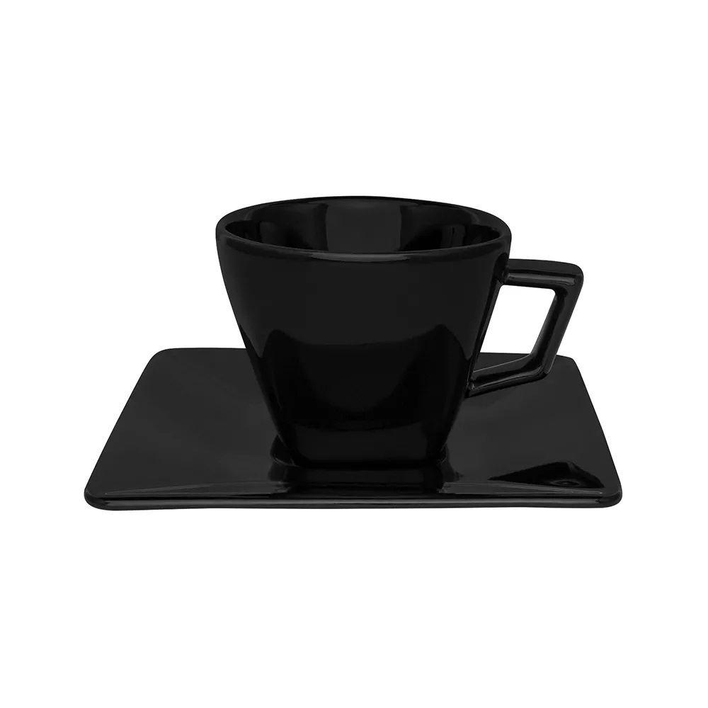 Aparelho de Jantar, Chá e Café Oxford Quartier Black 42 Peças