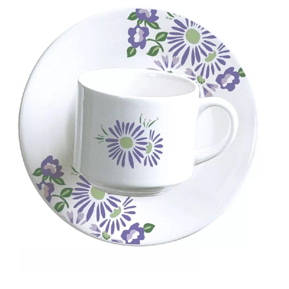 Aparelho de Jantar e Chá Biona Lilac 20 Peças