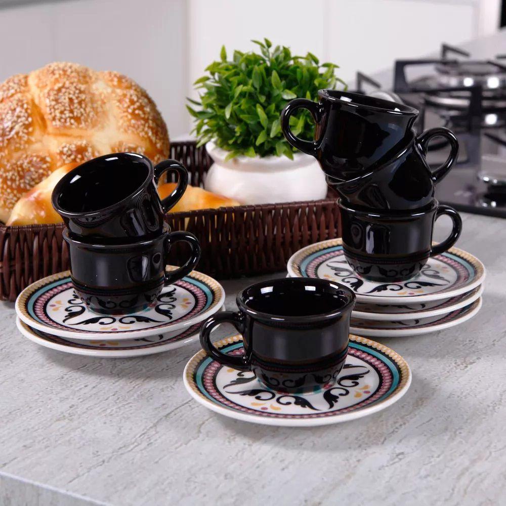 Aparelho de Jantar e Chá Oxford Floreal Luiza 30 Peças