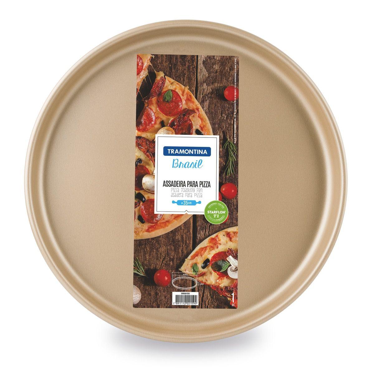 Assadeira para Pizza Tramontina Ø35cm Vermelha