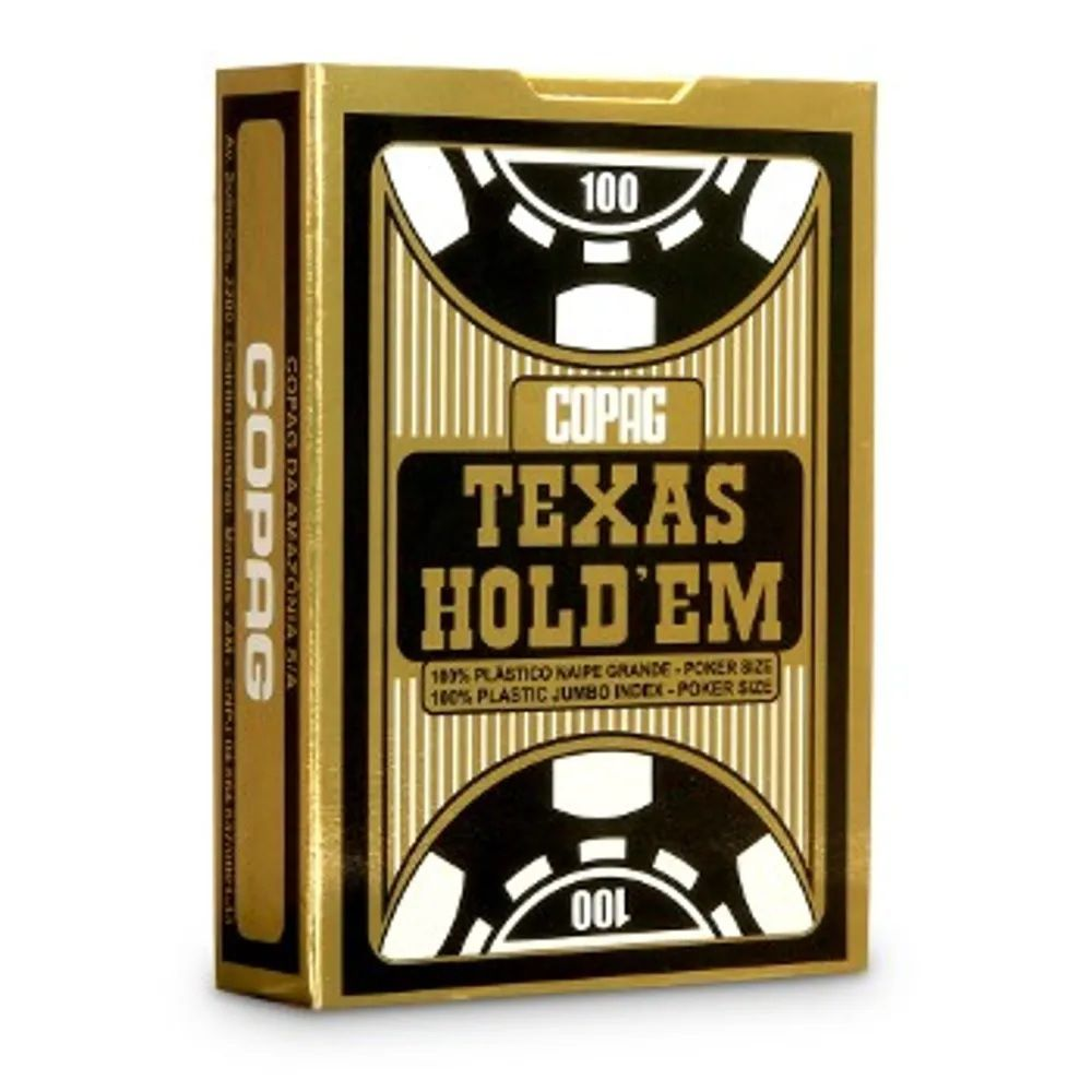 Baralho Texas Hold'Em Copag Bridege Size 100% Plástico