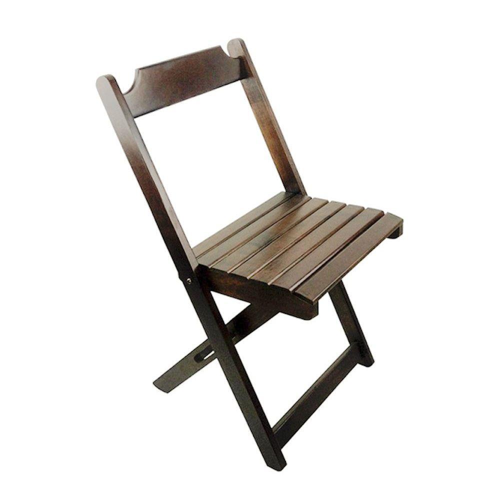 Cadeiras Dobráveis Madeira Cor Imbuia Maplan 1 unidades