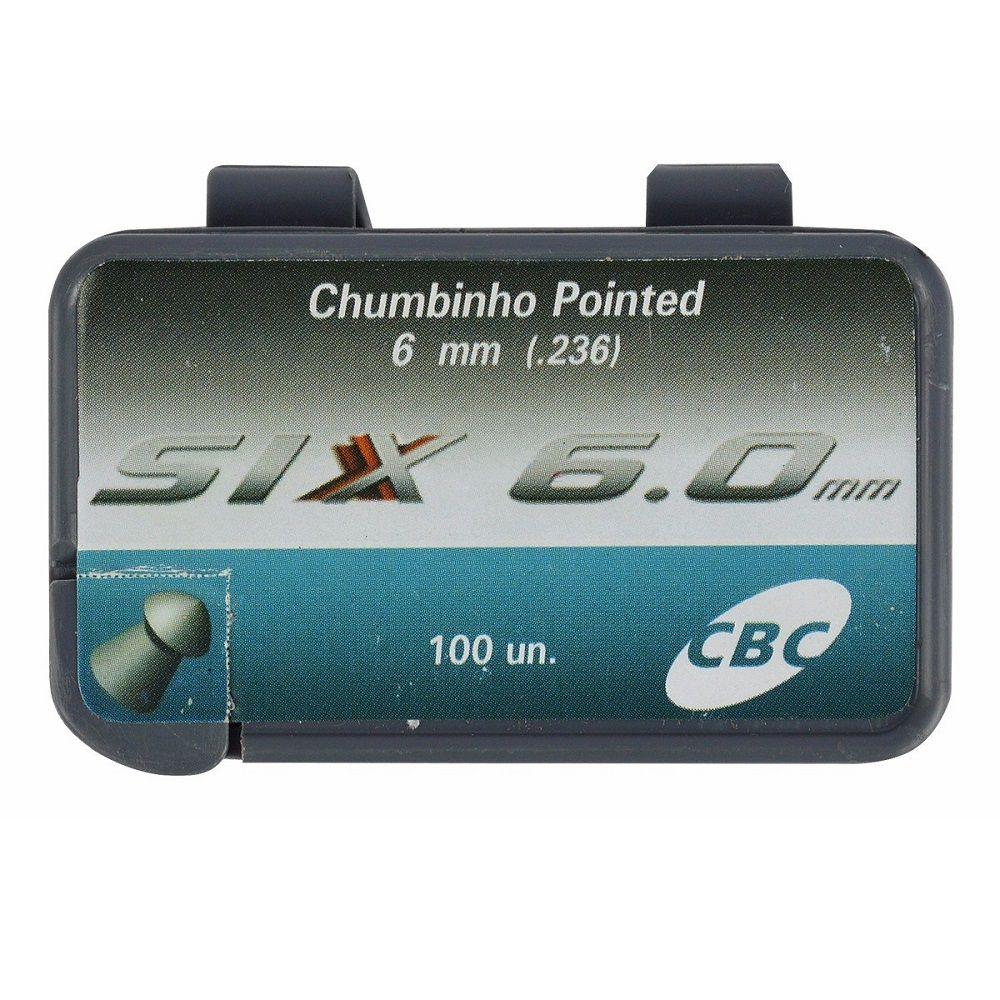 Chumbinho CBC Pointed Six 6.0mm 100 Unidades