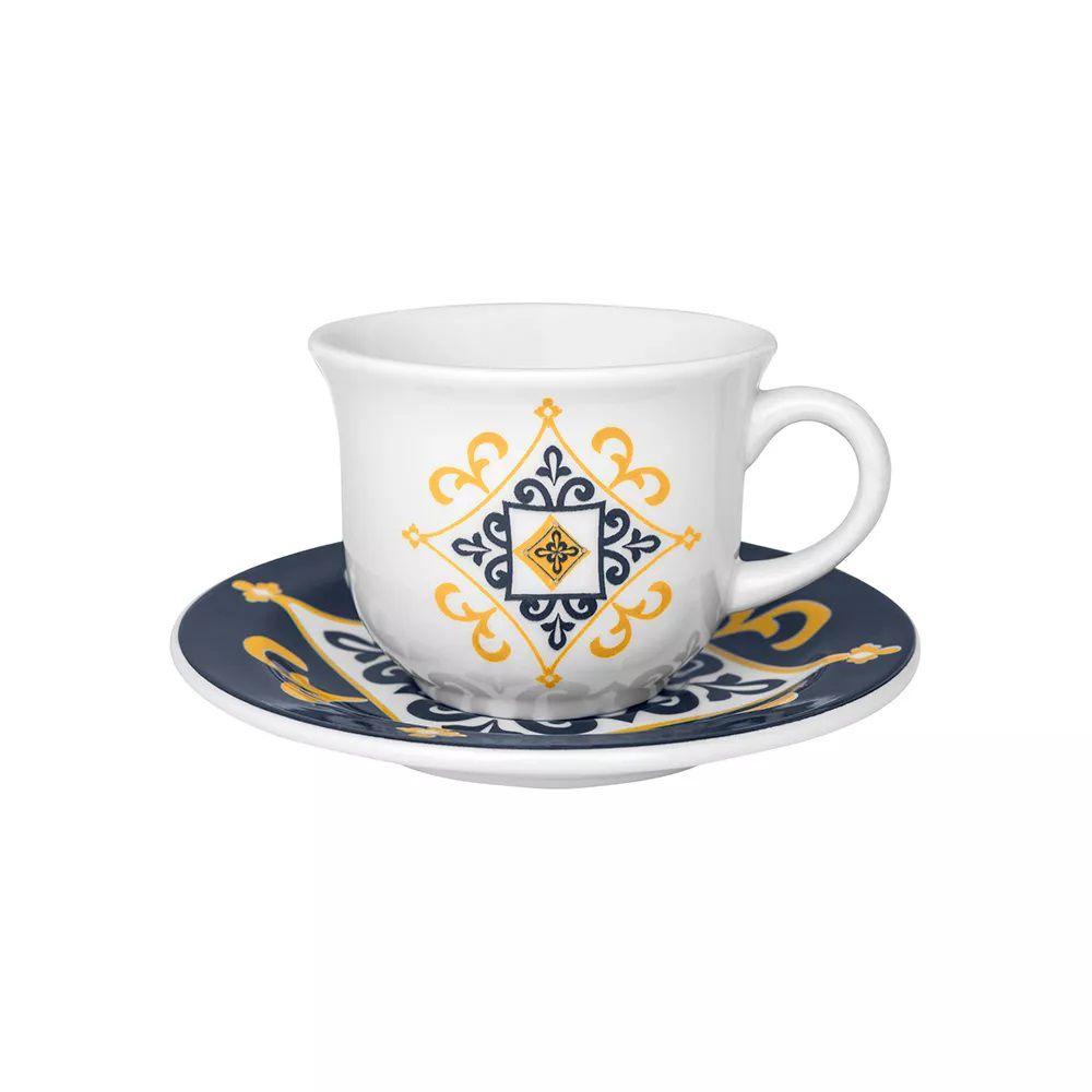 Conjunto de Café Oxford Floreal São Luís 12 Peças