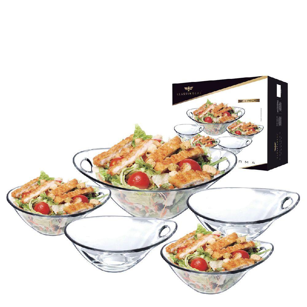 Conjunto de Saladas Parma Klassikglas Vidro 5 Peças