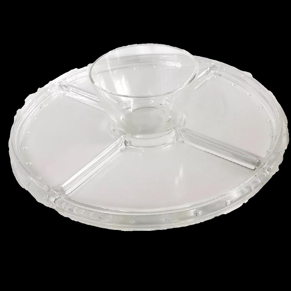 Conjunto para Servir 2 em 1 Petisqueira e Boleira Klassikglas Vidro