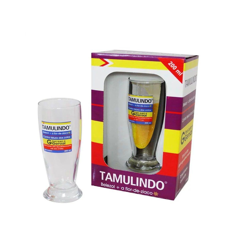 Copo Vidro Tamulindo Genéricos Divertidos Allmix 200ml