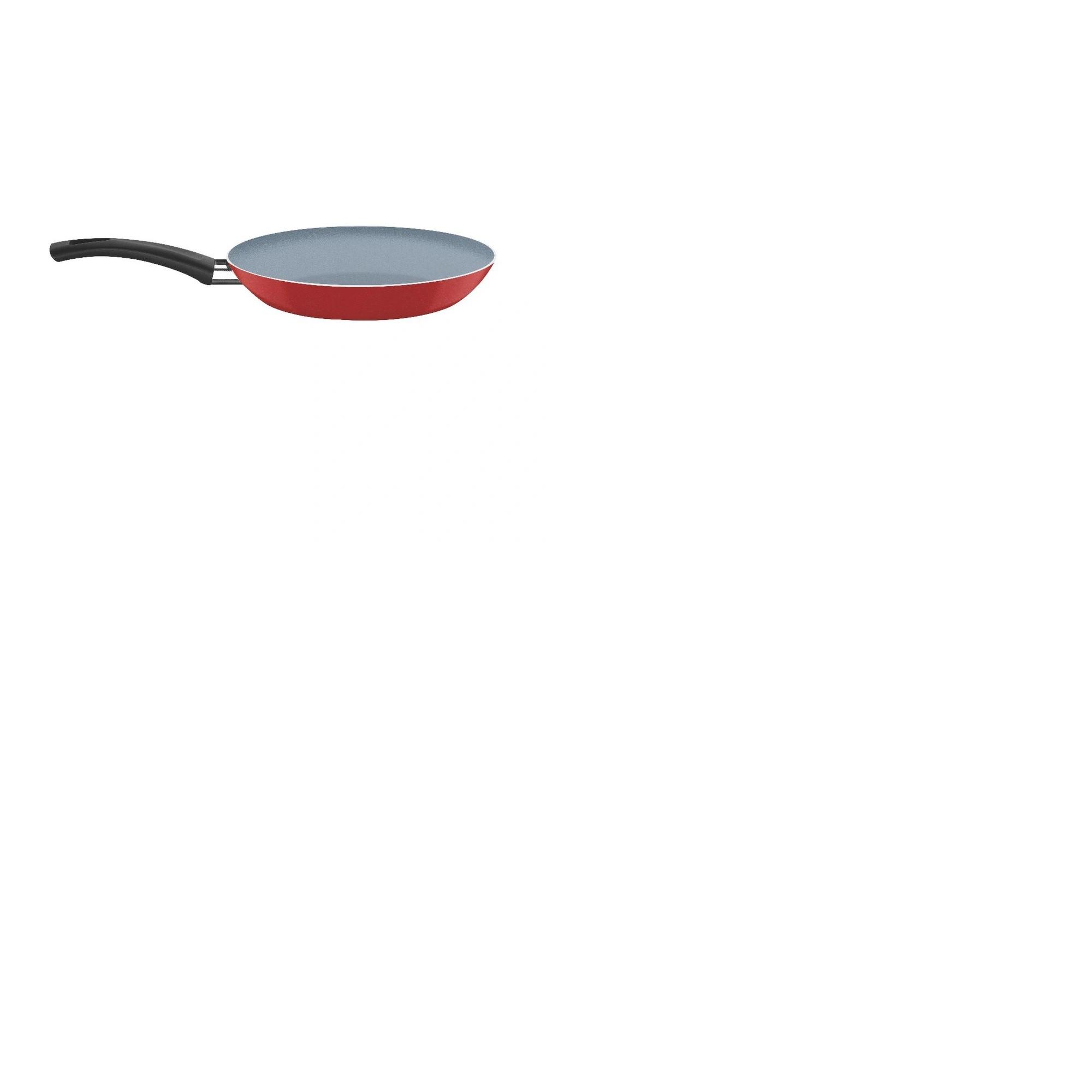 Frigideira Com Revestimento Interno Cerâmico e Externo em Silicone Vermelho 24 cm 1,2 L Tramontina