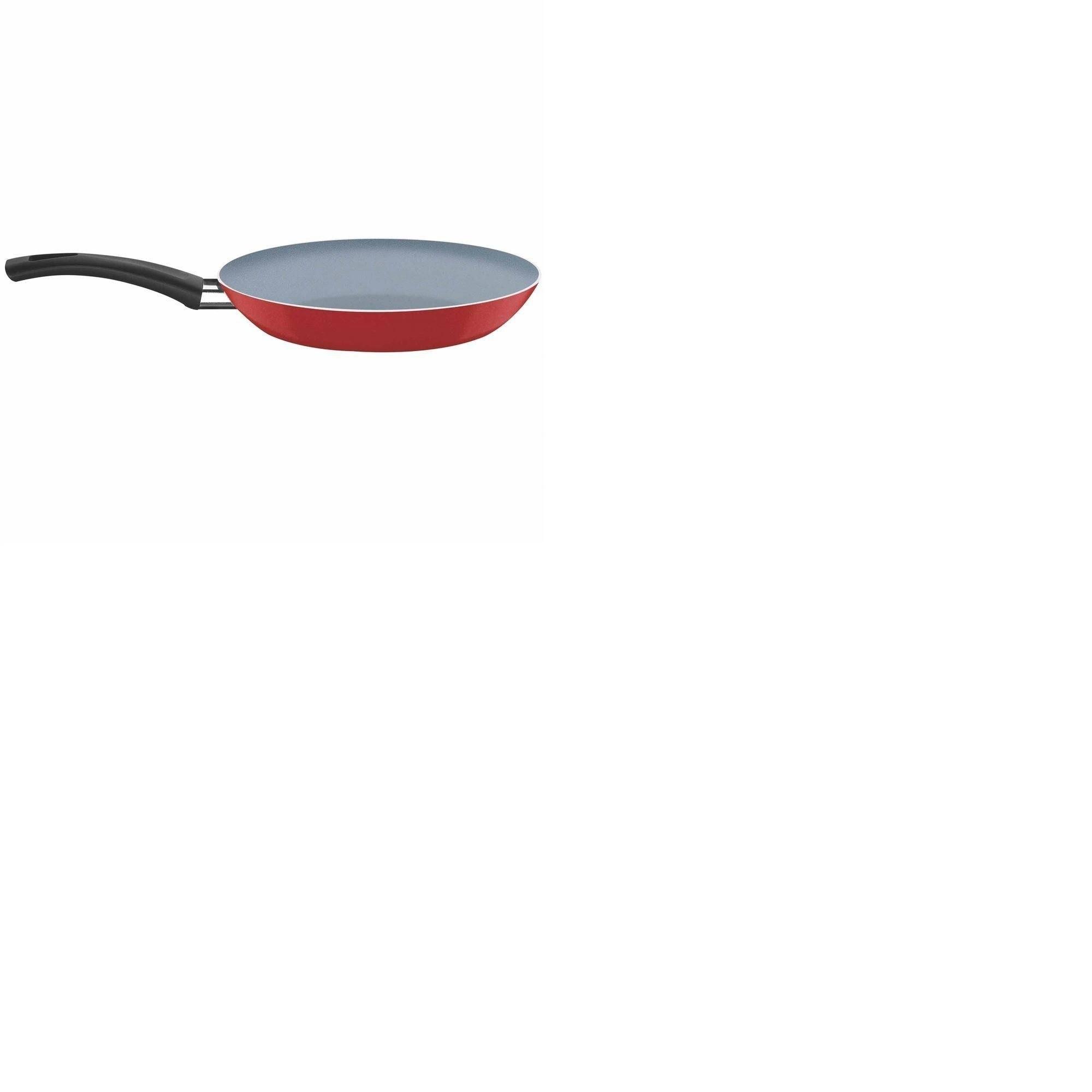 Frigideira Com Revestimento Interno Cerâmico e Externo em Silicone Vermelho 28 cm 2 L Tramontina