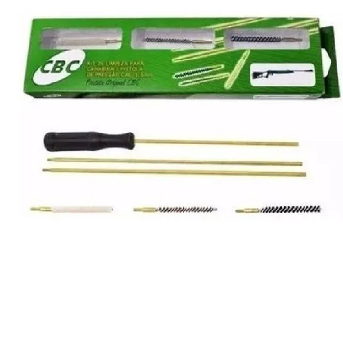 Kit de Limpeza para Carabina e Pistola de Pressão Cal. 4,5 mm - CBC