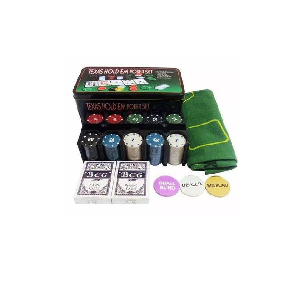 Kit Jogo de Poker na Lata 200 Fichas