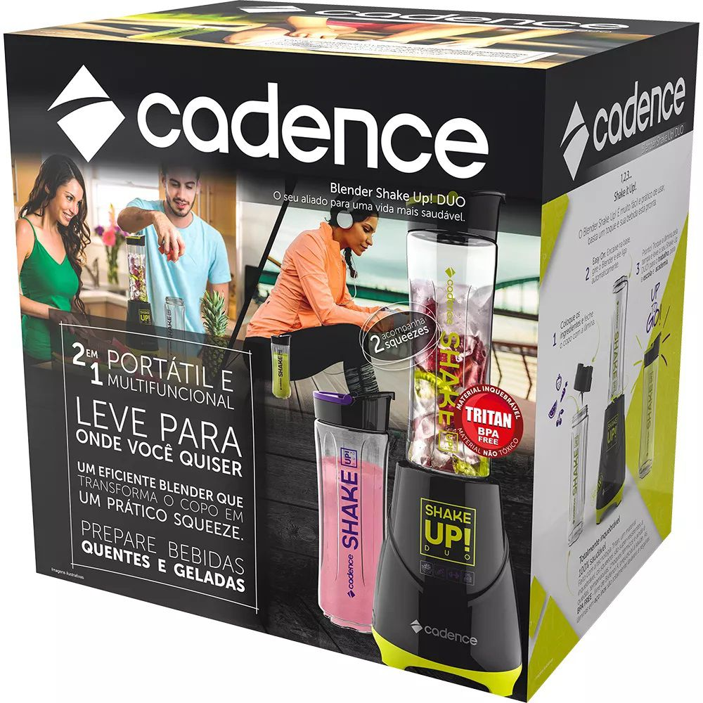 Liquidificador Blender Shake Up Duo Cadence 127 Volts