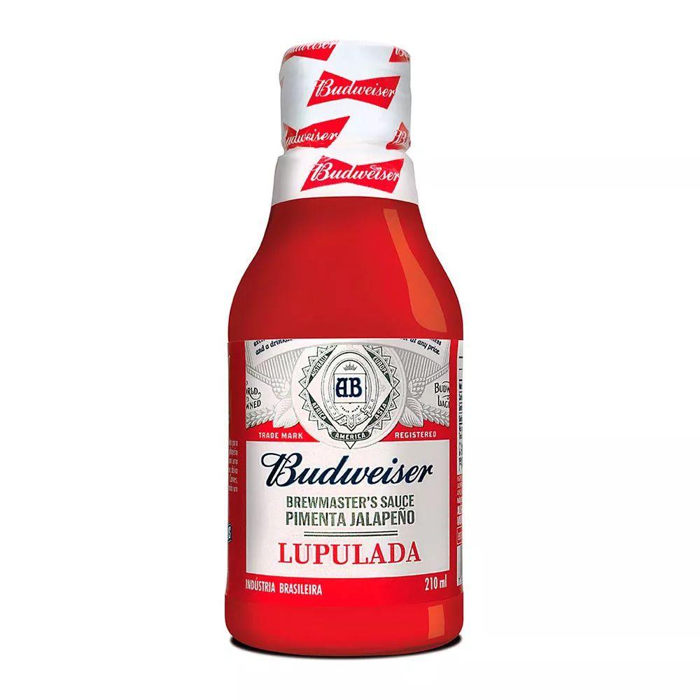 Molho de Pimenta Budweiser Lupulada Jalapeño 210ml