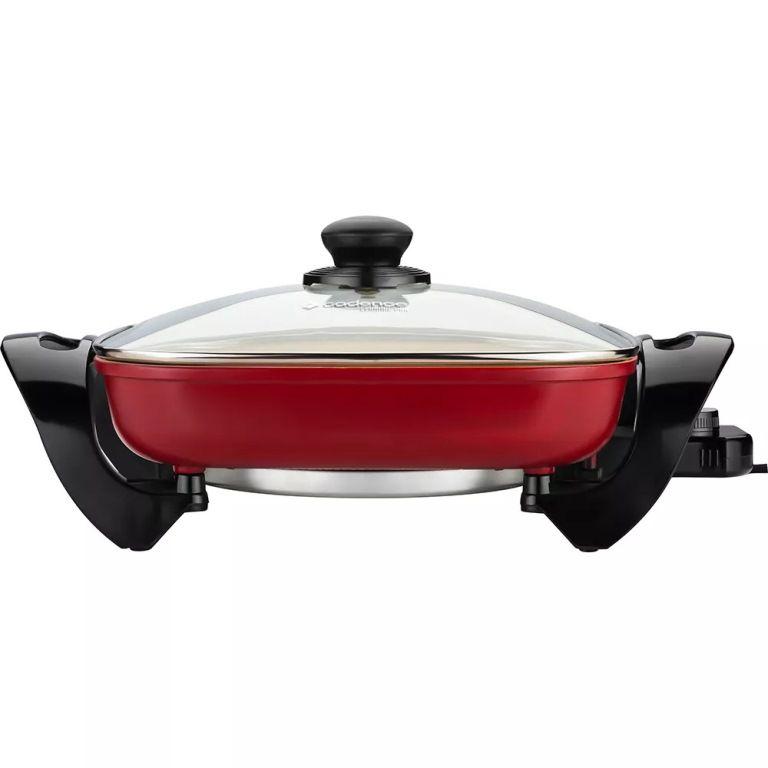 Panela Elétrica Gourmet Cerâmica Cadence 127V Vermelha