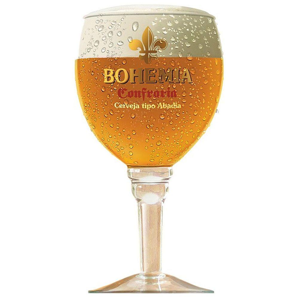 Taça para Cerveja Cristal Bohemia 430 ml Confraria