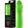 Capa Peniana 15 cm Silicone Colors com Textura Massageadora - Verde