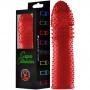 Capa Peniana 15 cm Silicone Colors com Textura Massageadora - Vermelha