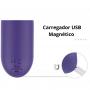 Estimulador de Clitóris Recarregável com Vibro Roxo Amazing - S-Hande