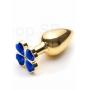 Plug Anal Dourado Lust Metal Flower Azul - Adão & Eva