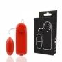 Vibrador Bullet Vermelho Controle Remoto com Fio Standard