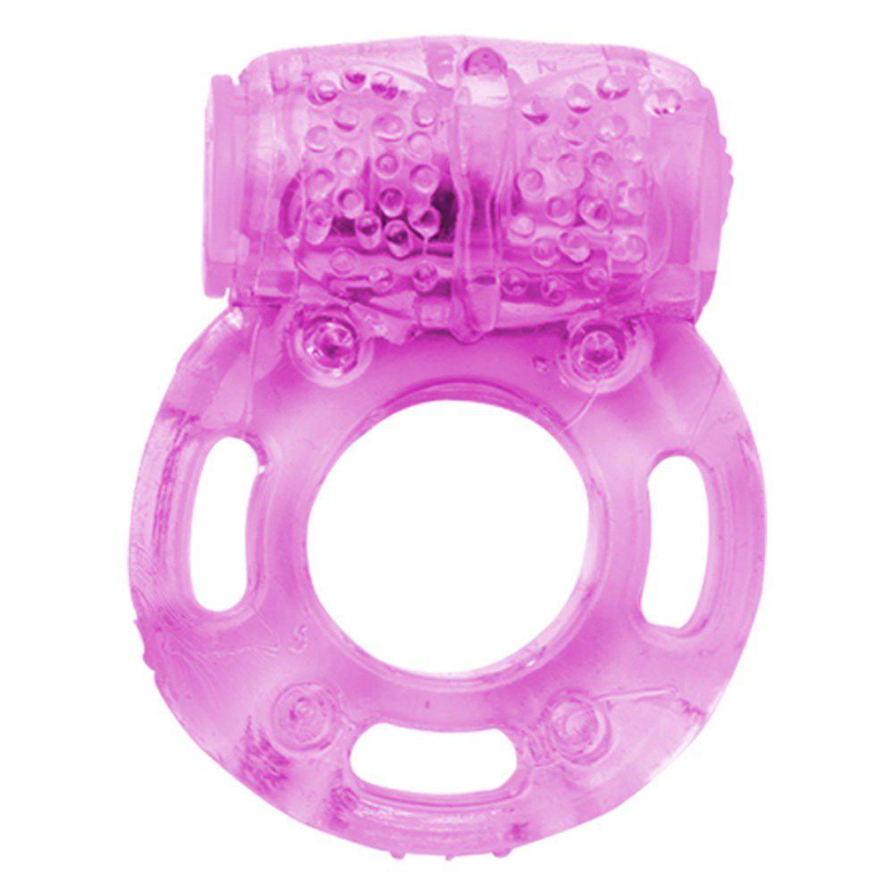 Anel Peniano com Estimulador em Forma de Borboleta com Vibro Rosa