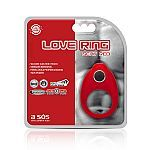 Anel Peniano Vibratório Love Ring Vermelho 9 Estágios - A Sós