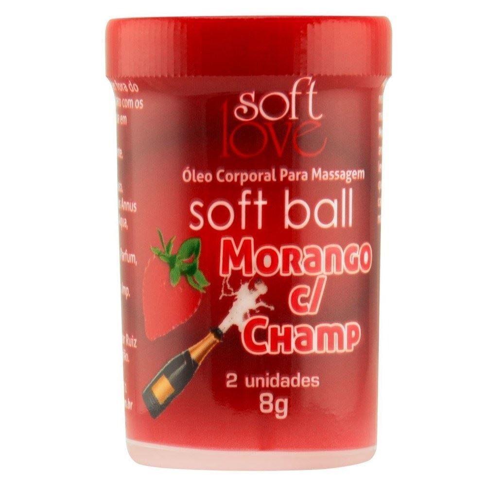 Bolinha Explosiva Soft Ball Morango c/ Champanhe - Soft Love