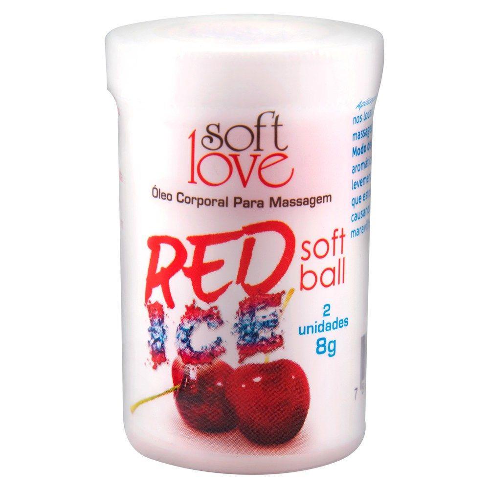 Bolinha Explosiva Soft Ball Red Ice - Soft Love