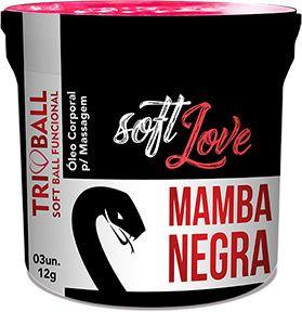 Bolinha Explosiva Soft Ball Triball  Mamba Negra - Soft Love