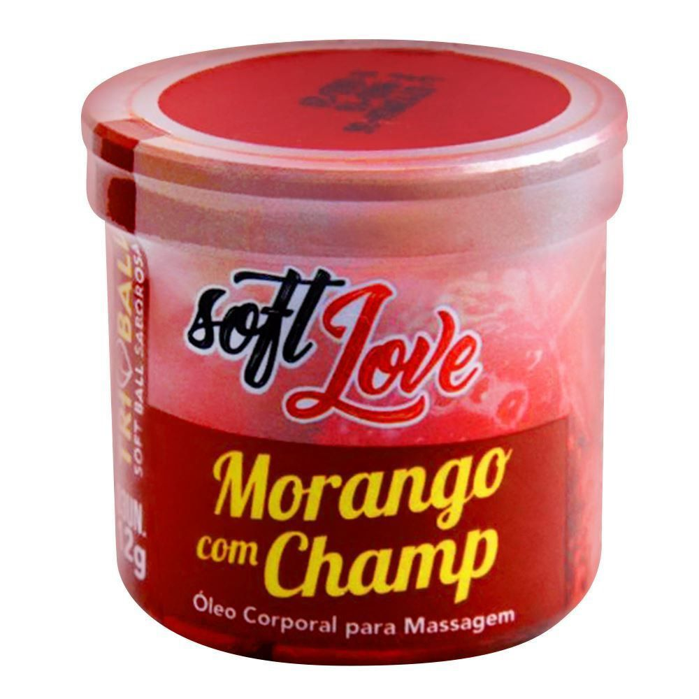 Bolinha Explosiva Soft Ball Triball Morango c/ Champanhe - Soft Love