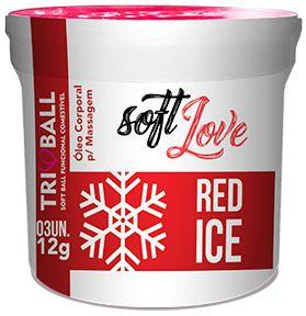 Bolinha Explosiva Soft Ball Triball  Red Ice - Soft Love