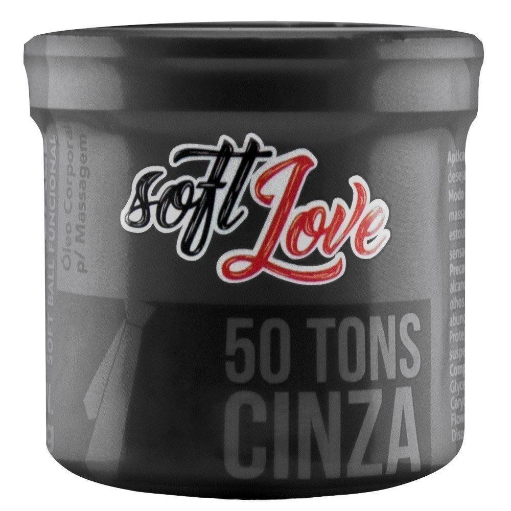 Bolinha Soft Ball Triball 50 Tons de Cinza - Soft Love