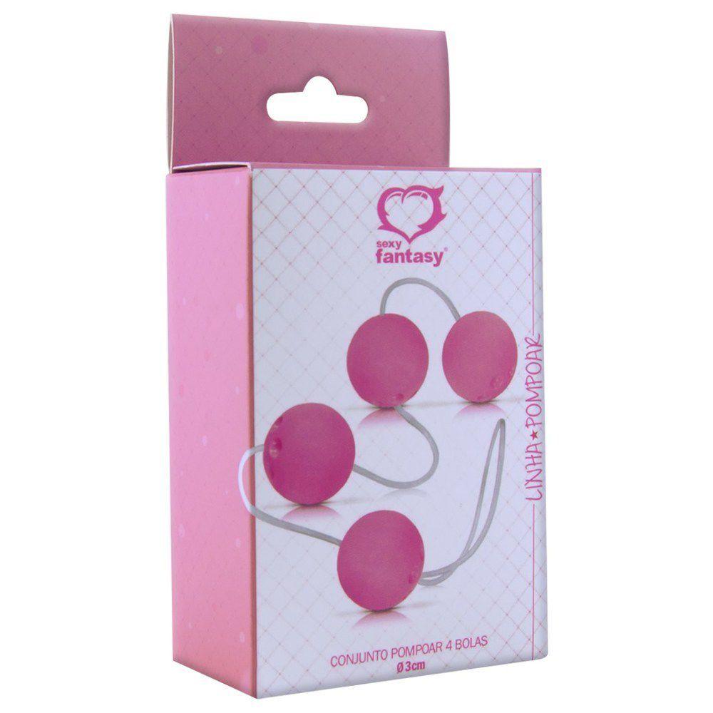 Bolinhas de Pompoar 4 Unidades Rosa - Sexy Fantasy