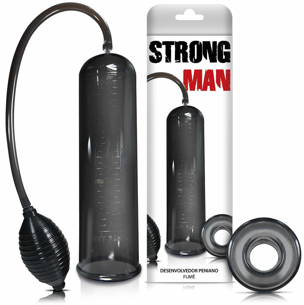 Bomba Peniana Manual Pera Strong Man Black