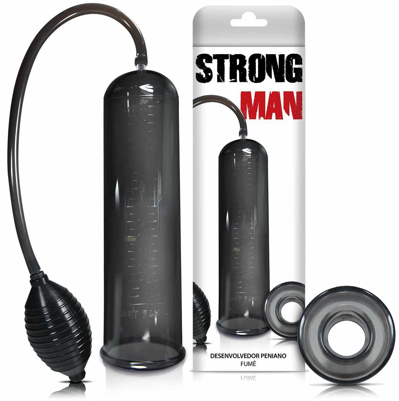 Bomba Peniana Manual Pera Strong Man Black