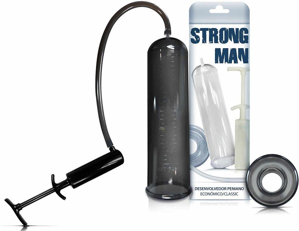 Bomba Peniana Manual Strong Man Black
